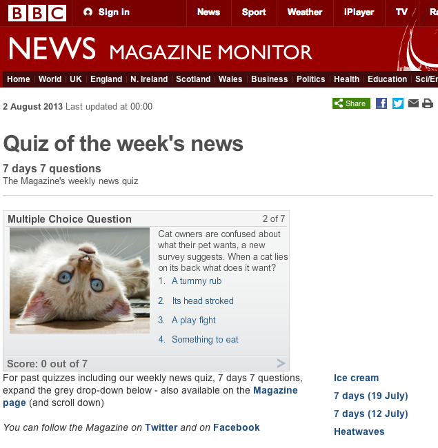 BBC News - Quiz of the week's news copy